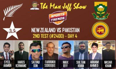 MaxJeff Show | PAK vs NZ 2nd Test LIVE | Day 4 | TEST NO 2400 | Jan. 5, 2021