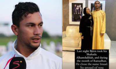 Bjorn Fortuin embraces Islam with his wife